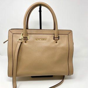 NWOT MICHAEL KORS Leather Collins bag dark khaki